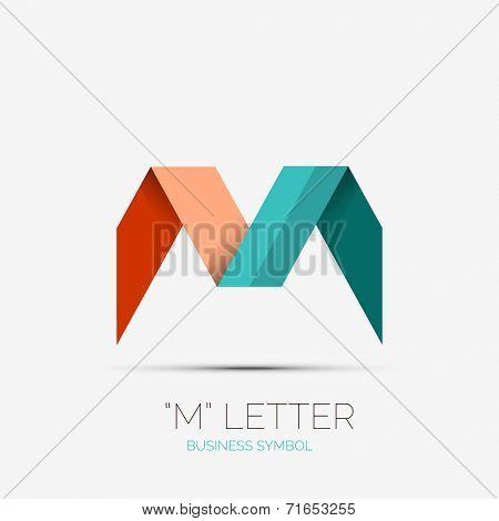 M letter icon, company logo, business symbol concept