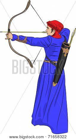 Vector Woman Archer