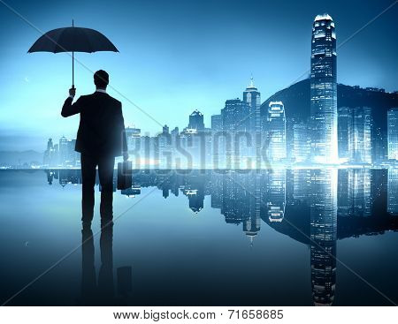 Business Person in an Urban Scene