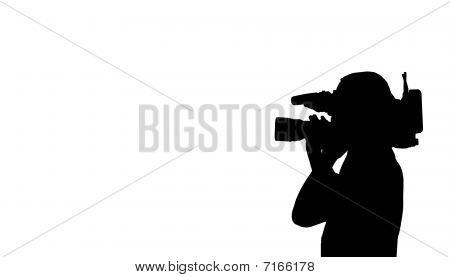 Cinegrafista filmando