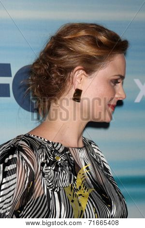 LOS ANGELES - SEP 8:  Emily Deschanel at the 2014 FOX Fall Eco-Casino at The Bungalow on September 8, 2014 in Santa Monica, CA