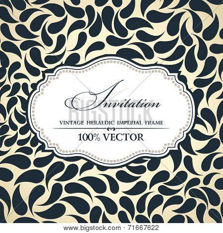 Vector elegant background place for text. Floral frame label elements ornate background