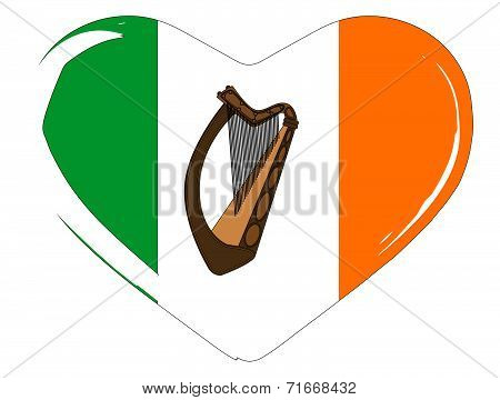 Irish Flag Heart