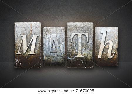 Math Letterpress