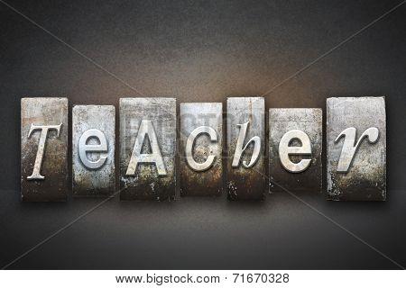Teacher Letterpress