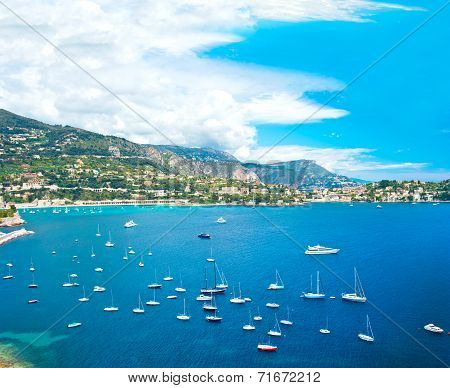 View Of Luxury Resort And Bay, French Riviera