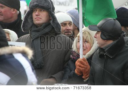 Opposition leader Alexei Navalny on the March for fair elections
