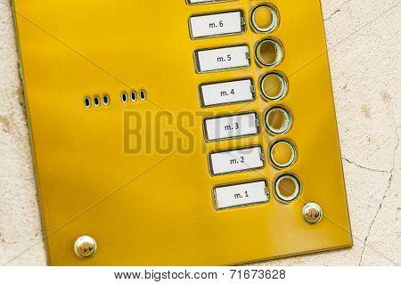 Keypad of intercom.