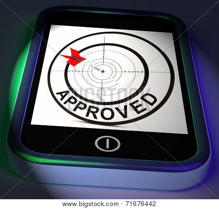 Approved Smartphone Displays Accepted Authorised Or Endorsed