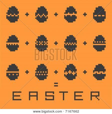 Easter vector pixel background