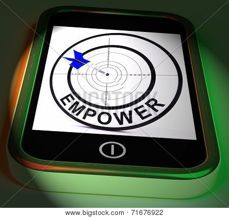 Empower Smartphone Displays Provide Tools And Encouragement