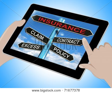 Insurance Tablet Mean Claim Excess Contract And Policy