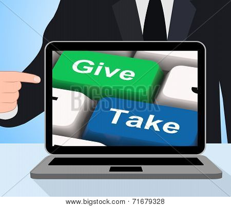 Give Take Computer Show Generous And Selfish