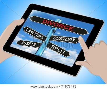 Divorce Tablet Means Custody Split Assets And Lawyers