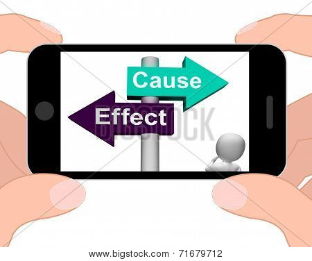 Cause Effect Signpost Displays Consequence Action Or Reaction