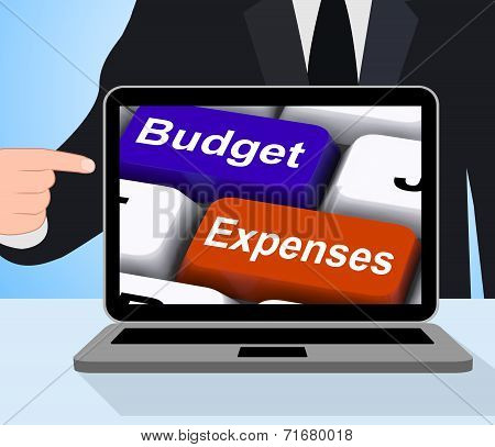 Budget Expenses Keys Displays Company Accounts And Budgeting