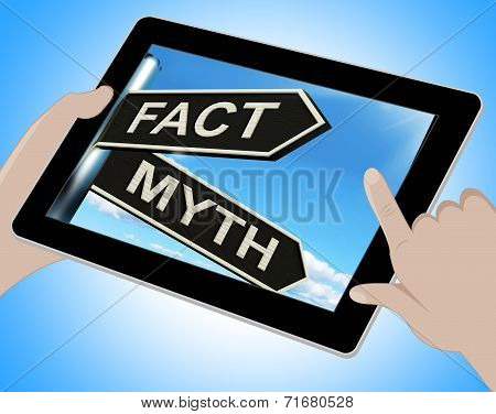 Fact Myth Tablet Means Correct Or Incorrect Information