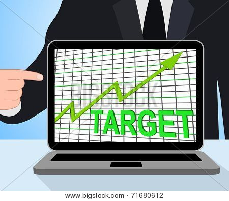 Target Chart Graph Displays Hit Or Hitting Targets