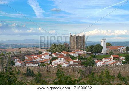 Braganca Castle In Braganca, Portugal