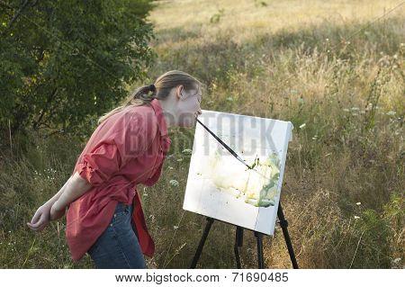 Artist On The Plain Air