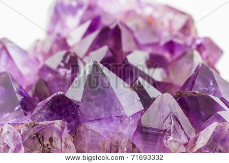 Crystal Stone, Purple Rough Amethyst Crystals.
