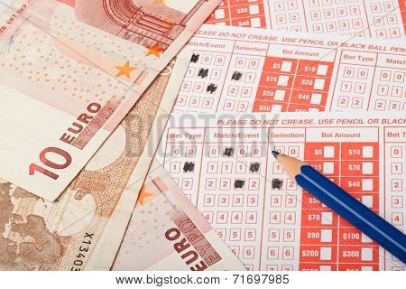 Euro And Sports Betting Slip