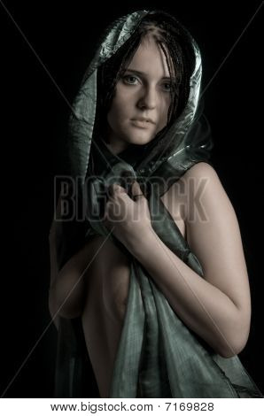 Nude Woman In Headscarf