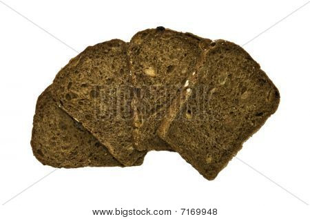 Slices Of Bread Isolated On White Background