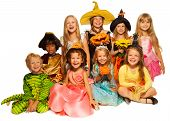 pic of happy halloween  - Group of kids - JPG