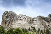 picture of nationalism  - Presidents of Mount Rushmore National Monument South Dakota USA