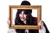 stock photo of satan  - Satan halloween concept isolated on white - JPG