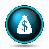 image of sack dollar  - Dollar sack icon - JPG