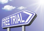 picture of promoter  - free trial test sample road sign - JPG