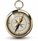 stock photo of longitude  - Compass with windrose - JPG