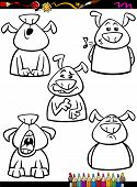image of child missing  - Coloring Book or Page Cartoon Illustration of Black and White Funny Dogs Expressing Emotions Set for Children - JPG