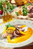 image of duck breast  - Duck Breast with Orange and Potato - JPG