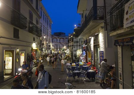 Amalfi Main Street At Night