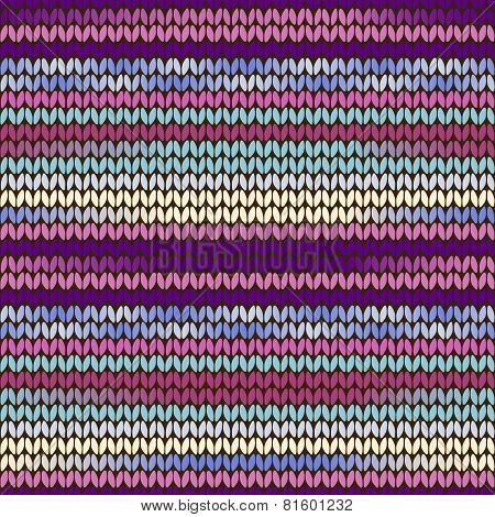 Knitted Pattern Purple