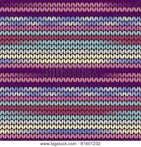 Knitted Pattern Purple