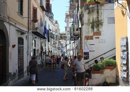Amalfi Ancient Building and main street