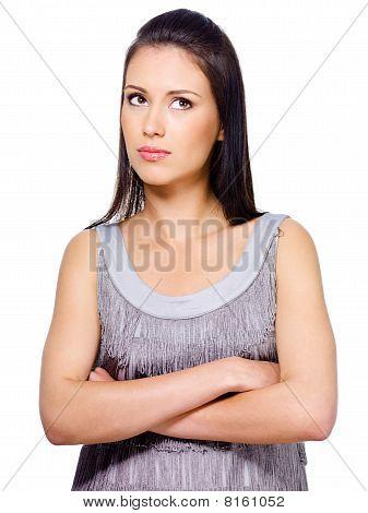 Woman In Thoughtful