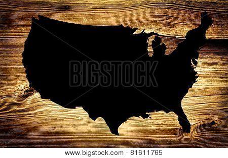 Wooden Black Map