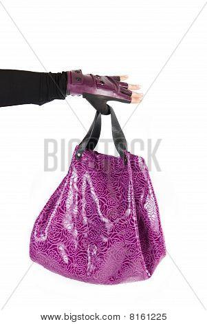 Mulheres roxas saco à mão