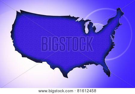 A Blue Textured Map