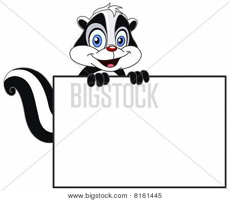 Skunk With Sign