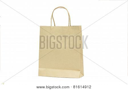 Blank Brown Paper Shoppign Bag