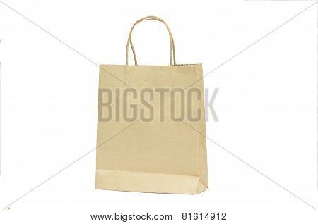 Blank Brown Paper Shoppign Bag