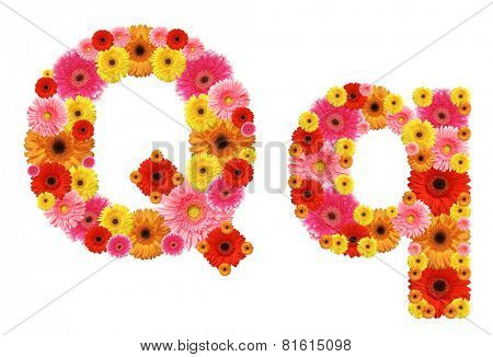 q, flower alphabet