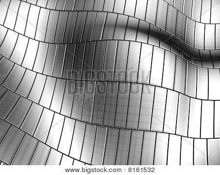 Aluminum Wave Shape Silver Stripe Pattern Background