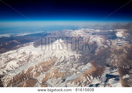 Mount Damavand bird's-eye view